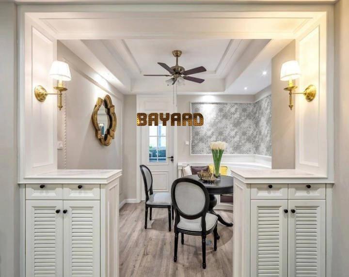 dining room wall backsplash