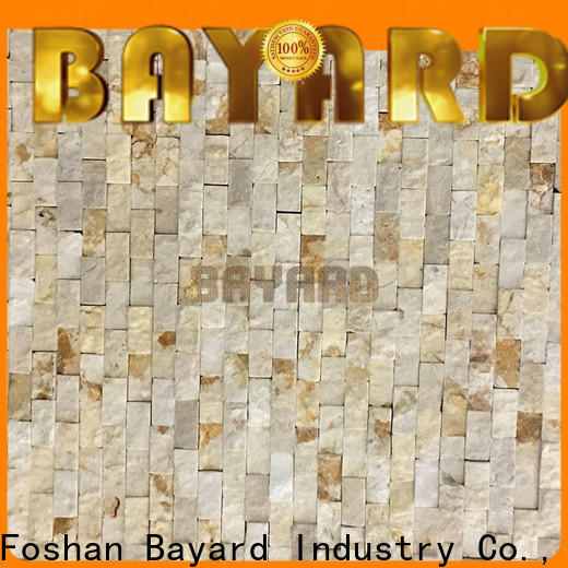 Bayard beige marble and glass mosaic tile factory price