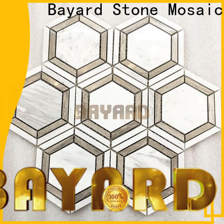 Bayard tiles black and silver mosaic tiles factory price for hotel lobby