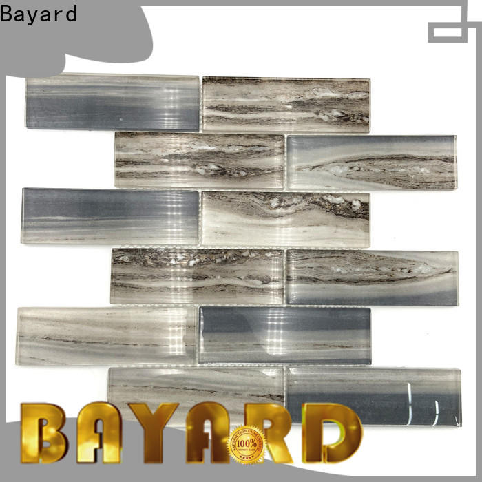 Bayard grey green glass mosaic tiles vendor for hotel lobby