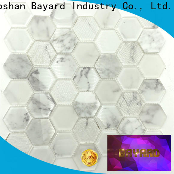 Bayard blue blue glass mosaic tile supplier for bathroom