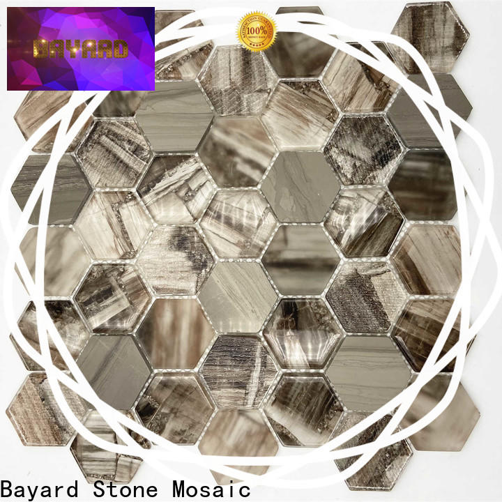elegant glass mosaic tile sheets imitated dropshipping for bathroom