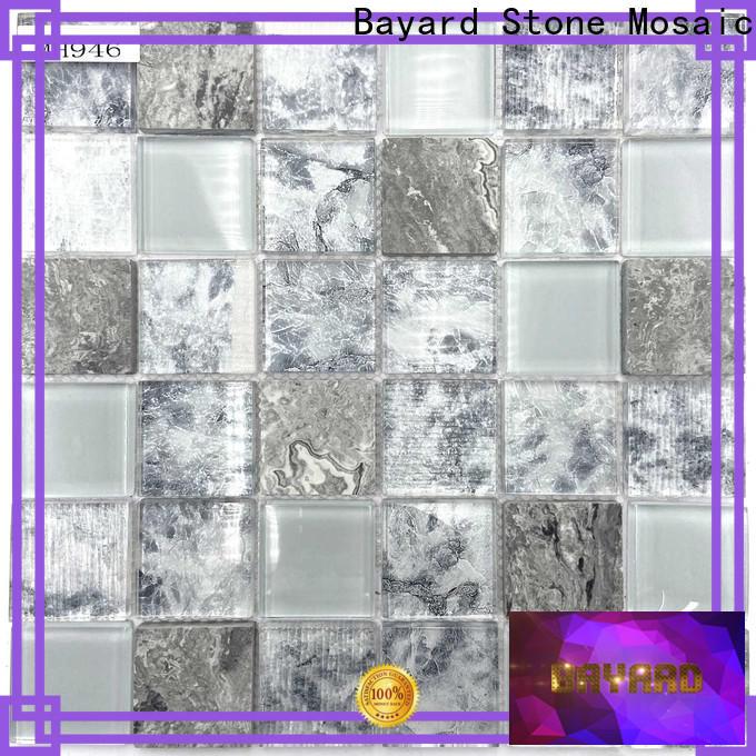 hot-sale black glass mosaic tiles black dropshipping for bathroom