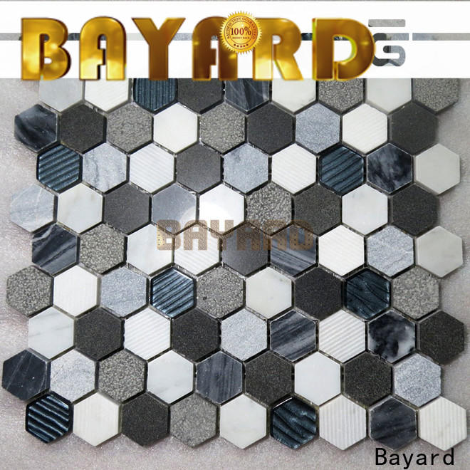 Bayard natural marble mosaic tile factory price for hotel