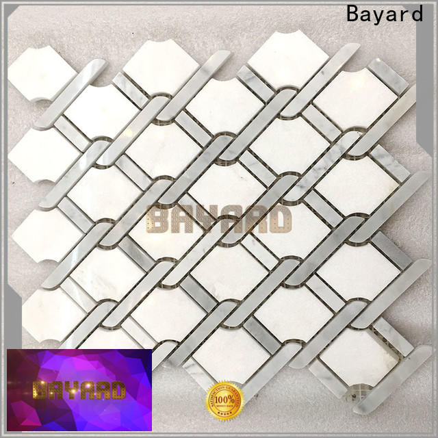 Bayard splashback grey mosaic floor tiles for wholesale for wall decoration