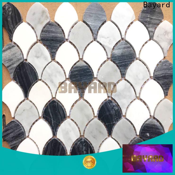 Bayard glossy gray mosaic tile dropshipping for foundation
