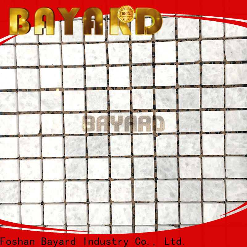 high reputation glass mosaic wall tiles white overseas market for hotel lobby