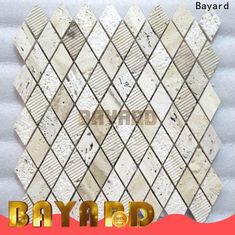 Bayard travertine dark mosaic tile supplier for decoration