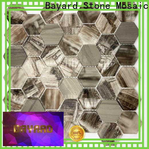 Bayard high quality blue glass mosaic tile supplier for bathroom