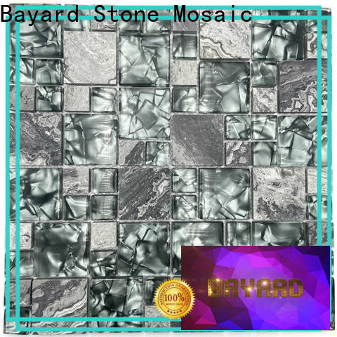 Bayard brown stained glass mosaic tiles for wholesale for decoration