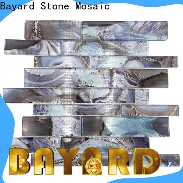 Bayard glass sea glass mosaic tile for foundation