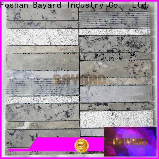 Bayard sheets grey mosaic tiles for decoration