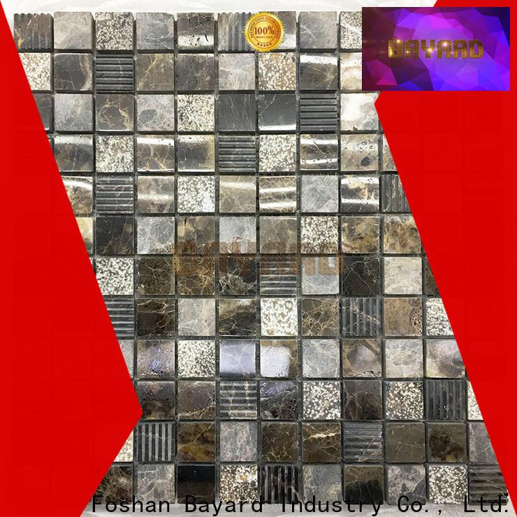Bayard grey mosaic wall supplier for bathroom