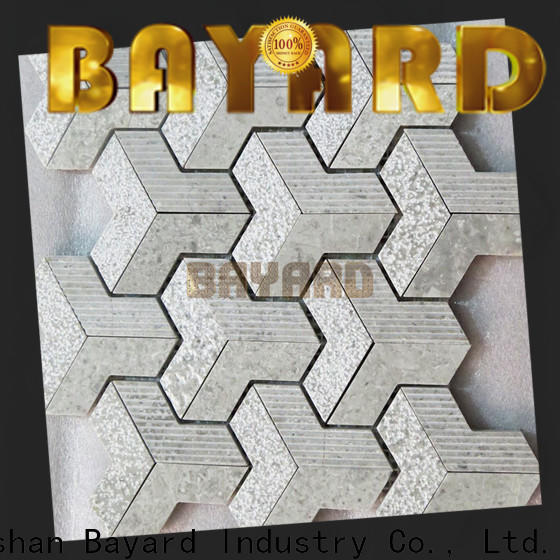 Bayard flower glass and stone mosaic tile for foundation