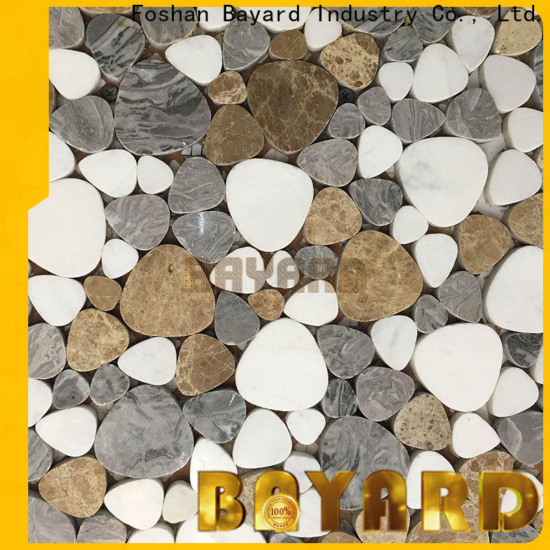 Bayard white round mosaic tiles in china for bathroom