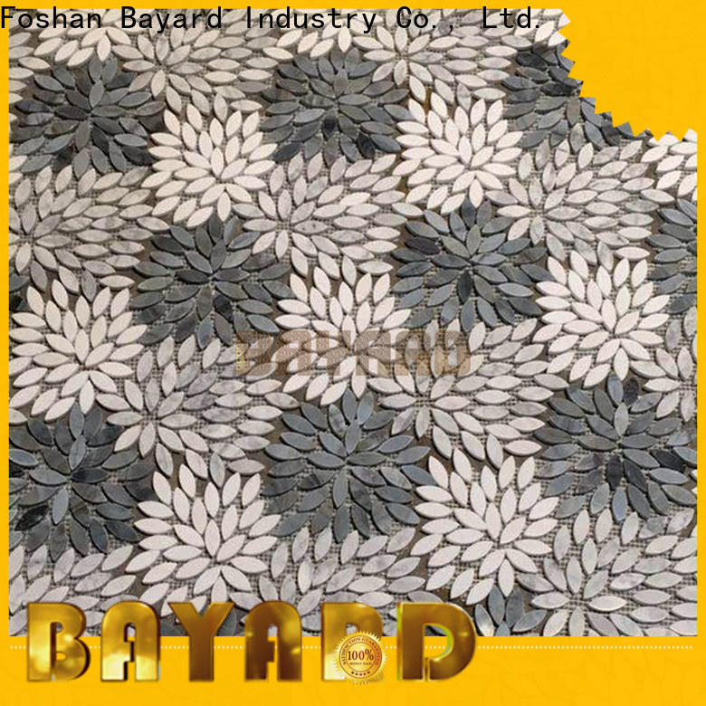 Bayard effect marble mosaic floor tile for wholesale for foundation
