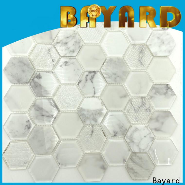 Bayard new arrival green glass mosaic tiles factory for bathroom