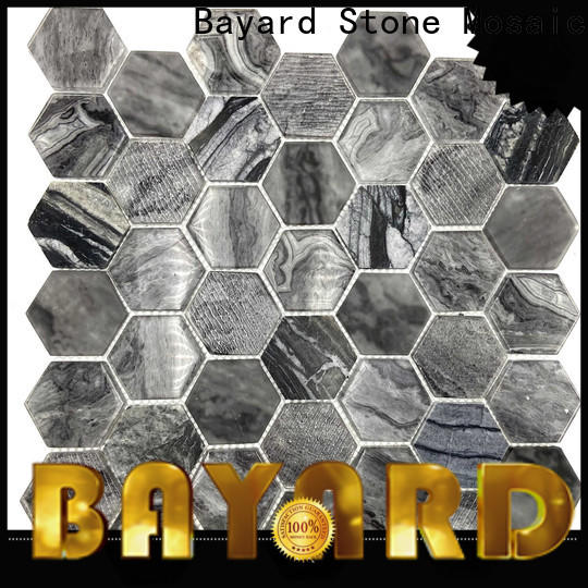 Bayard high standards iridescent glass mosaic tile in china for foundation