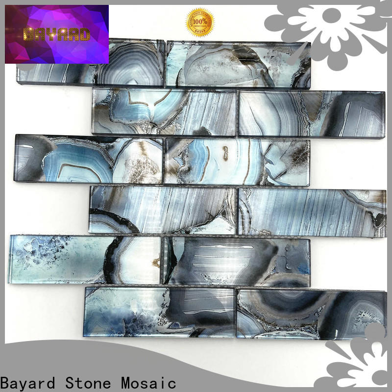 elegant black glass mosaic tiles wooden dropshipping for foundation