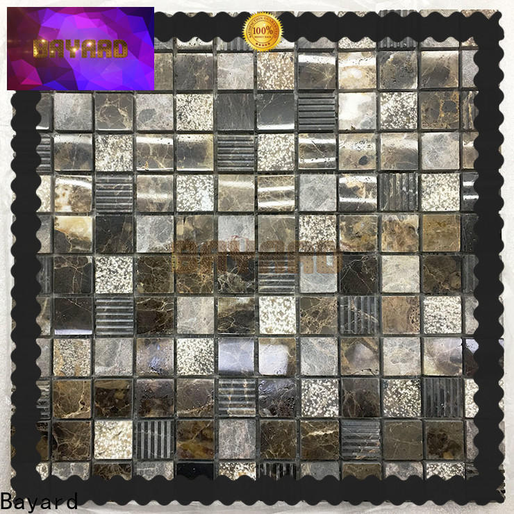 high quality stone mosaic dark for supermarket