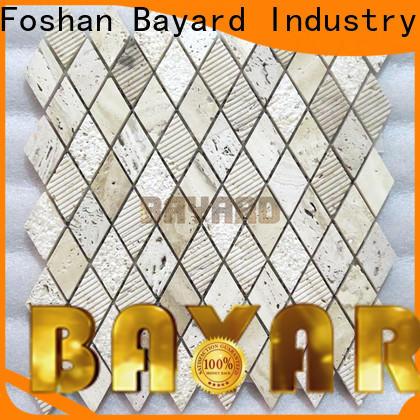 Bayard natural travertine mosaic wall tile supplier for foundation
