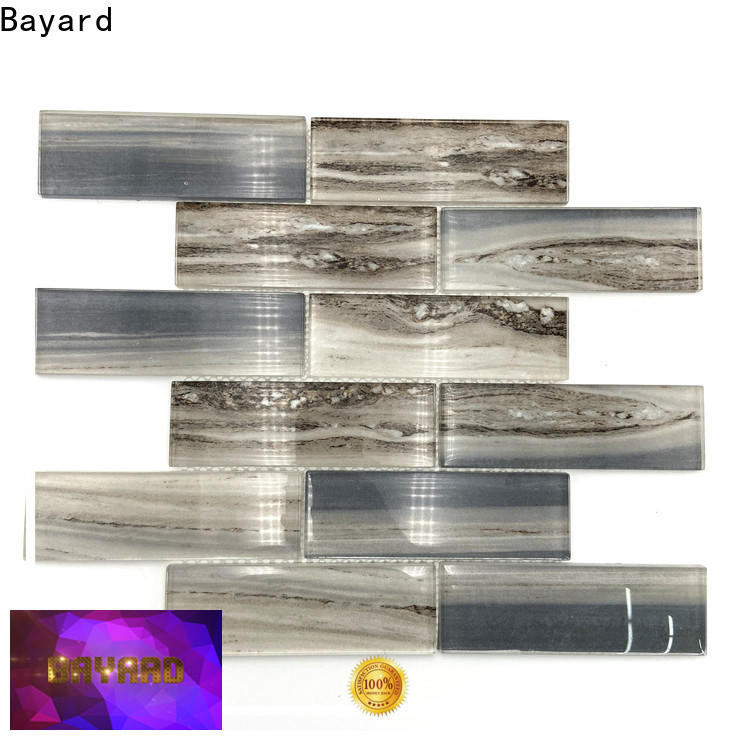 Bayard white glass mosaic tile sheets supplier for foundation