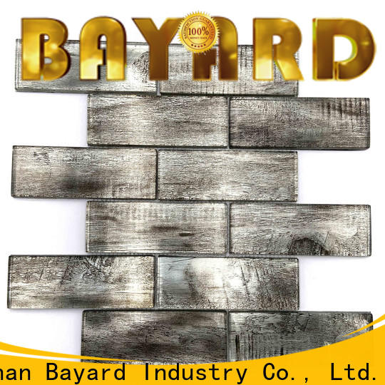Bayard color black glass mosaic tiles in china for foundation