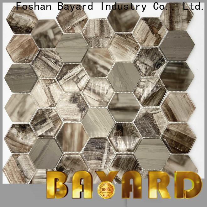 Bayard indigo glass mosaic tile sheets for bathroom