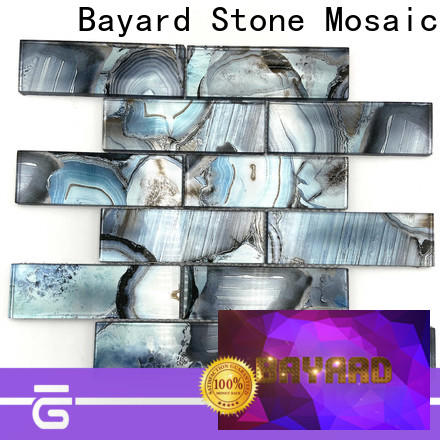 high-end glass mosaic tile marble in china for hotel lobby