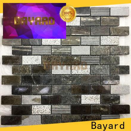 Bayard marquina grey mosaic tiles