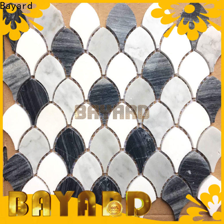 Bayard bathroom glass and stone mosaic tile vendor for foundation