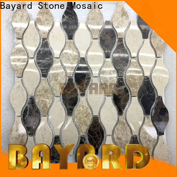 Bayard circle marble mosaic floor tile vendor for bathroom