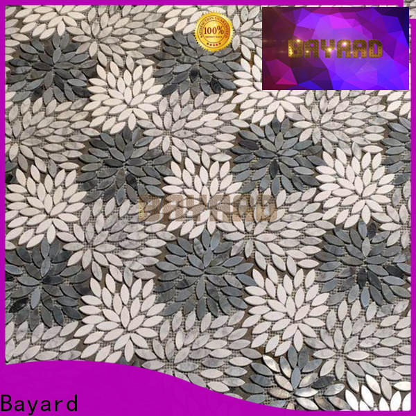 Bayard widely used grey mosaic floor tiles dropshipping