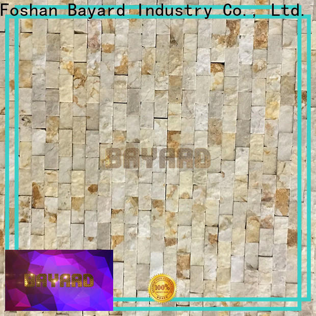 Bayard beige natural stone mosaic tiles in different shapes for wall decoration
