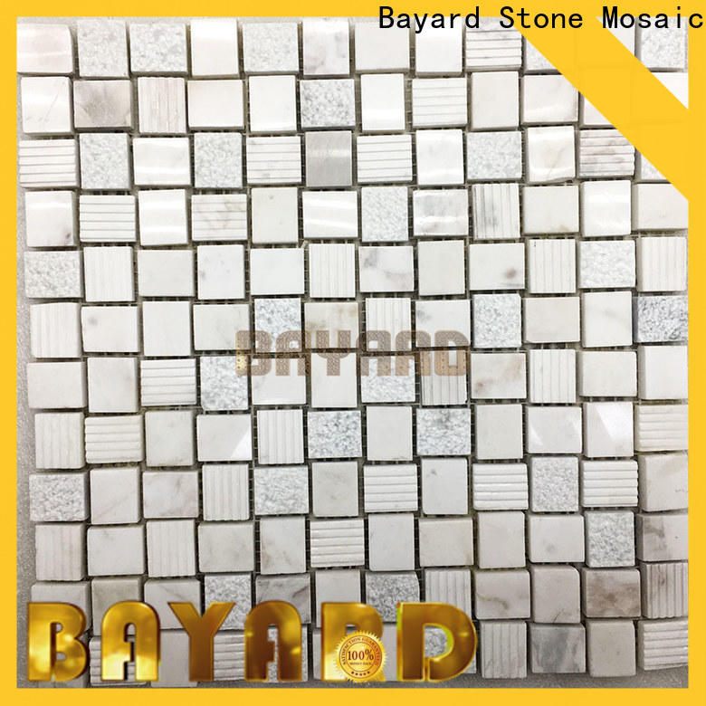 Bayard profdssional black and silver mosaic tiles in different shapes for bathroom