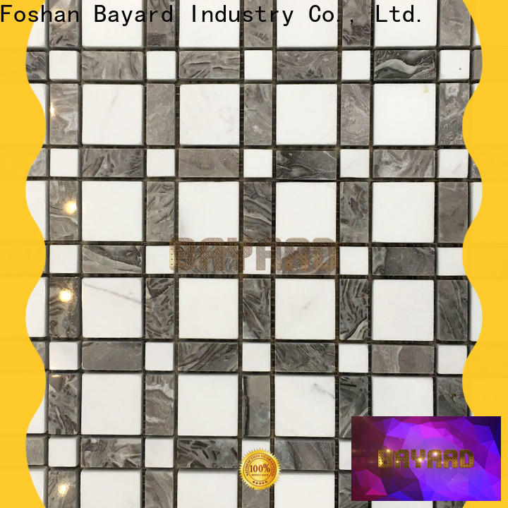 simple design black and silver mosaic tiles sheets factory price for wall decoration