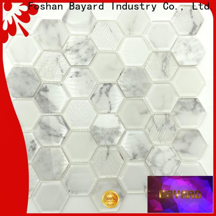 Bayard brick black glass mosaic tiles for decoration