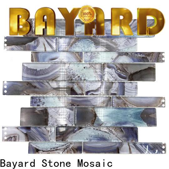Bayard tile blue glass mosaic tile vendor for decoration