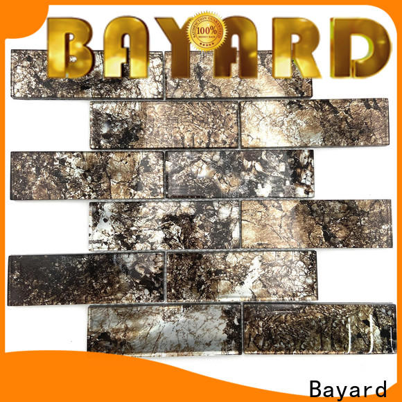 Bayard bright white glass mosaic tile factory for hotel lobby