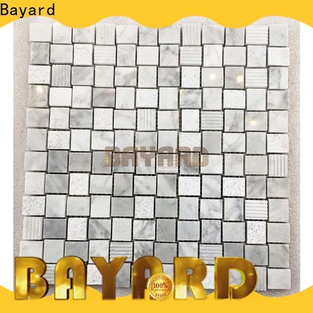 Bayard marfil mosaic tile kitchen backsplash for swimming pool