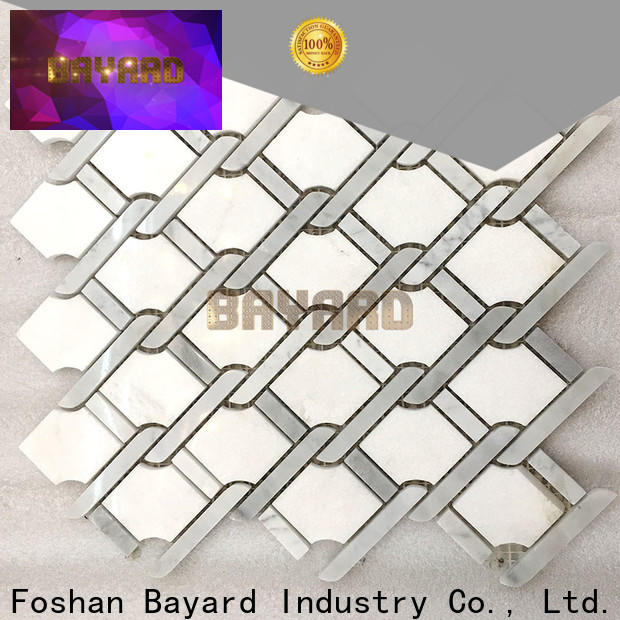 Bayard upscale marble mosaic floor tile for wall decoration