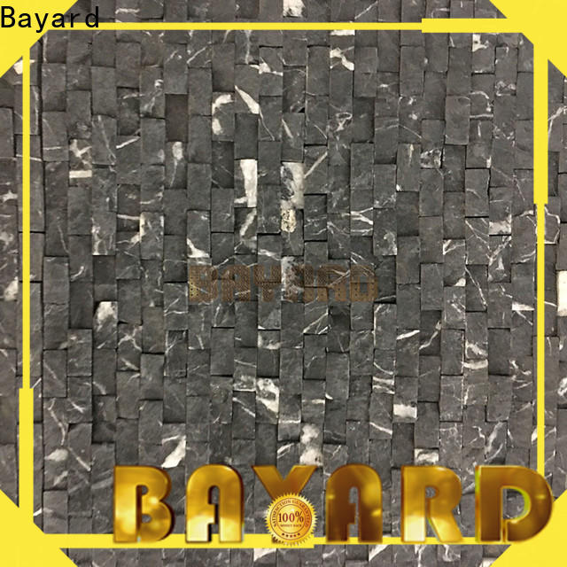 Bayard golssy black marble mosaic tile from china for bathroom