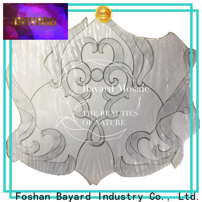new arrival water jet marble flower factory for foundation