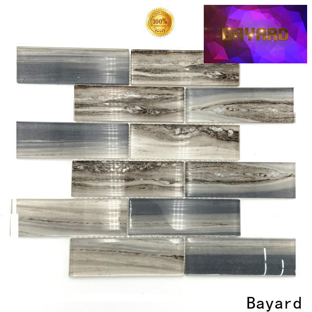 Bayard karrara white glass mosaic tile for wholesale for decoration
