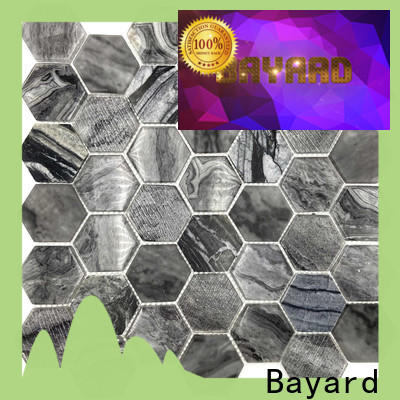 Bayard affordable glass mosaic tile sheets factory price for foundation