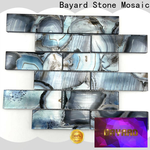 Bayard good-looking clear glass mosaic tiles newly for hotel lobby