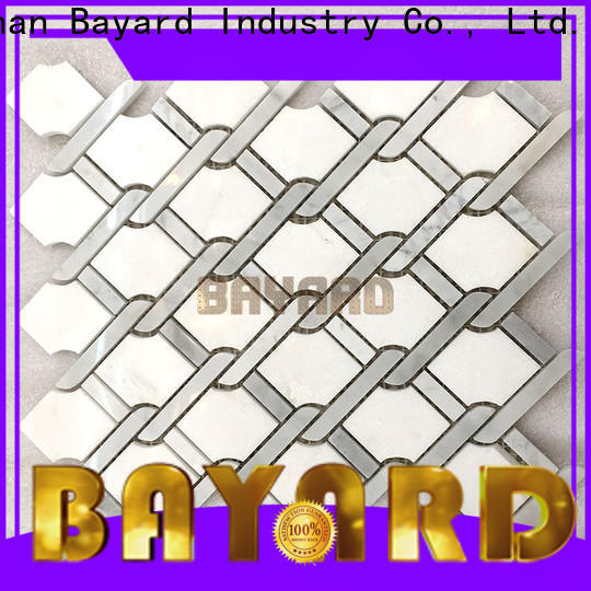 upscale mosaic border tiles splashback supplier for hotel lobby