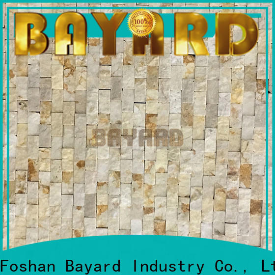 Bayard sandstone natural stone mosaic tiles in different shapes for bathroom