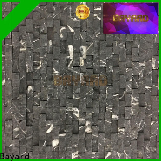 Bayard black grey mosaic tiles bathroom in different colors for hotel lobby