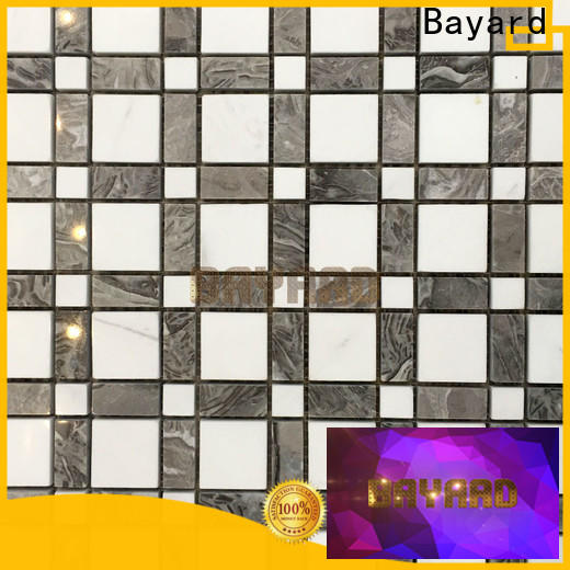 simple design black and silver mosaic tiles glass supplier for foundation